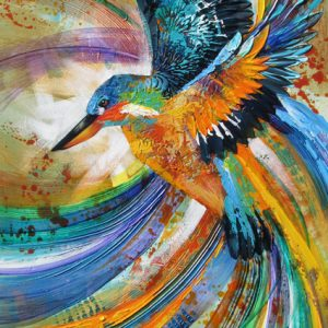 bird painting online acrylic painting course