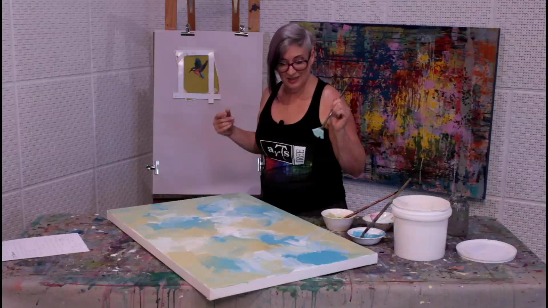 paint with gesso